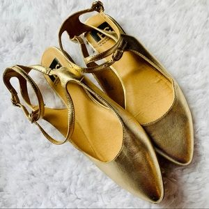 BC Footwear Shoes - {BC FOOTWEAR} ModCloth Gold Metallic Flats
